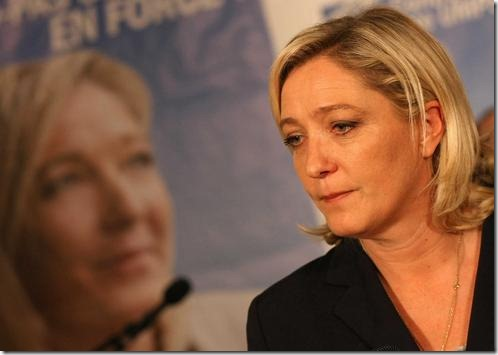 HENIN BEAUMONT: Marine Le Pen  after the results of the second round of the elections