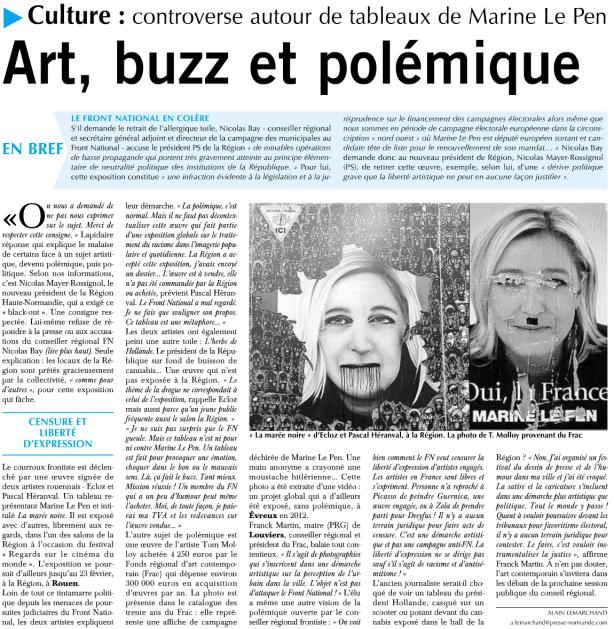 Article du Paris-Normandie